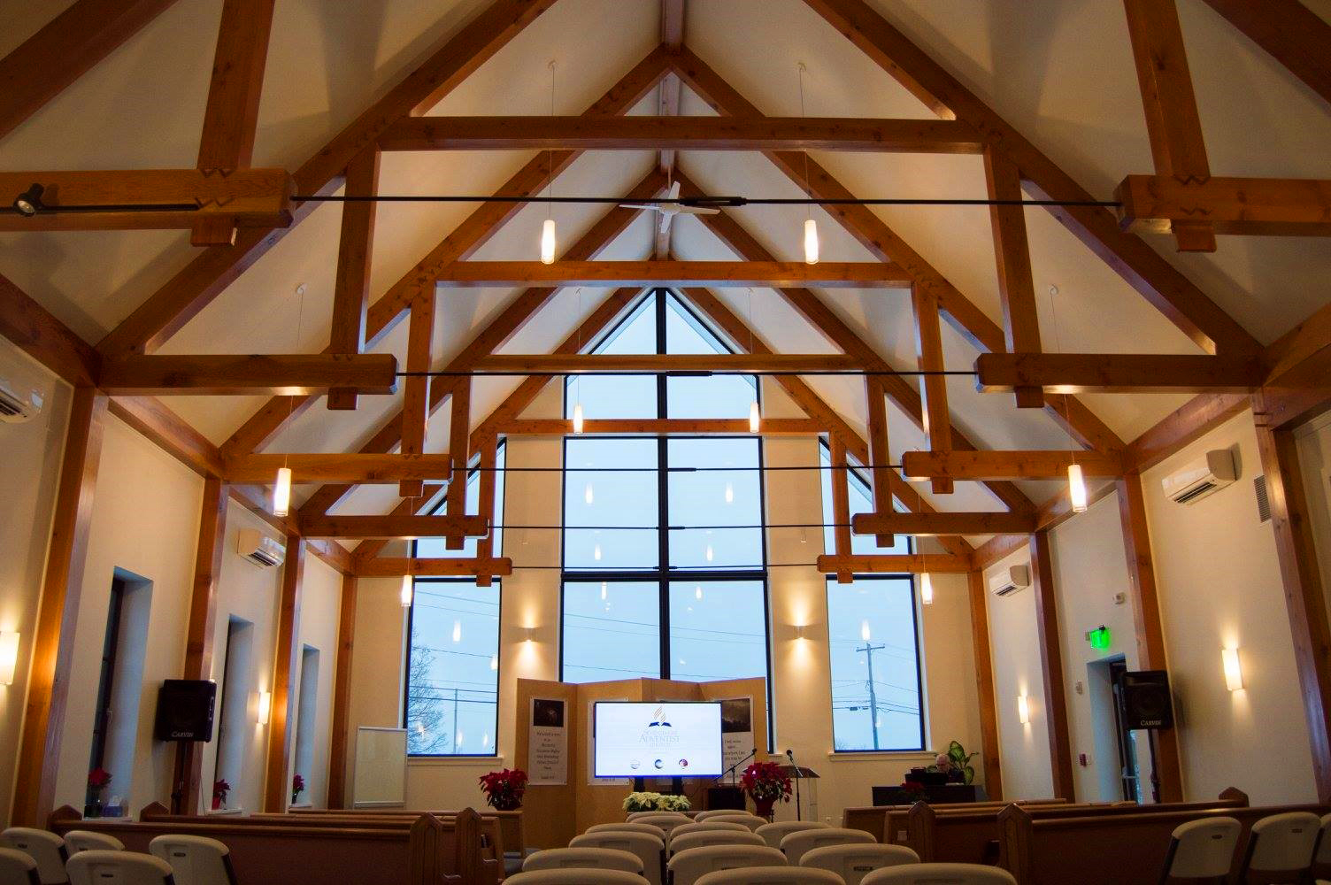 Seventh-day Adventist Church at Kinderhook with INTUS windows,  3rd Annual PHIUS Passive House Projects Competition Commercial Winner