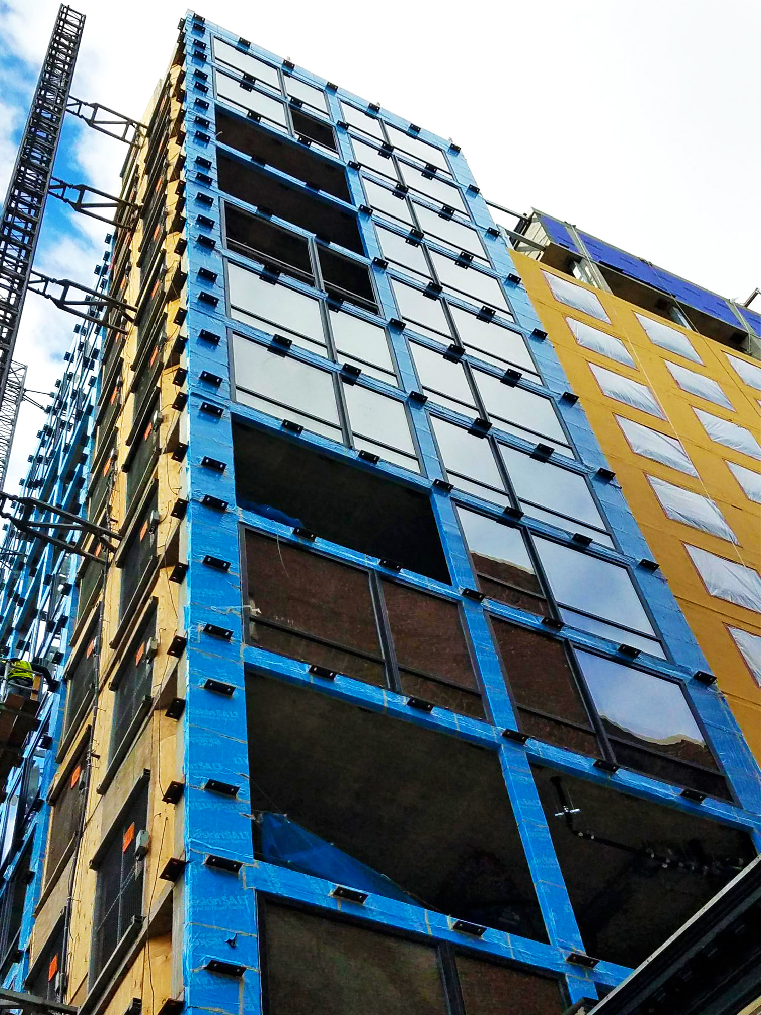 The Moxy Hotel is in progress and looking good! INTUS Windows are being installed to give guests a quiet and comfortable stay (STC45/OITC38).