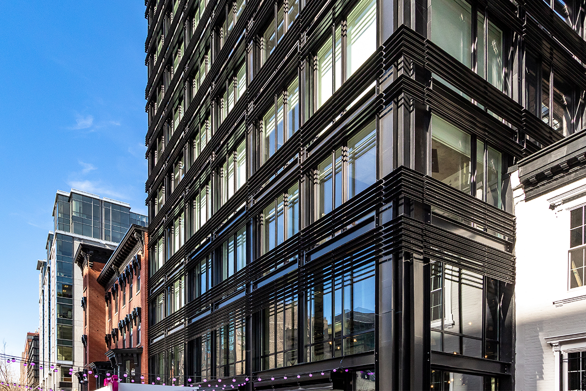 Moxy Hotel in Washington, D.C. with INTUS Arcade STC 45/OITC 38 steel reinforced polymer windows