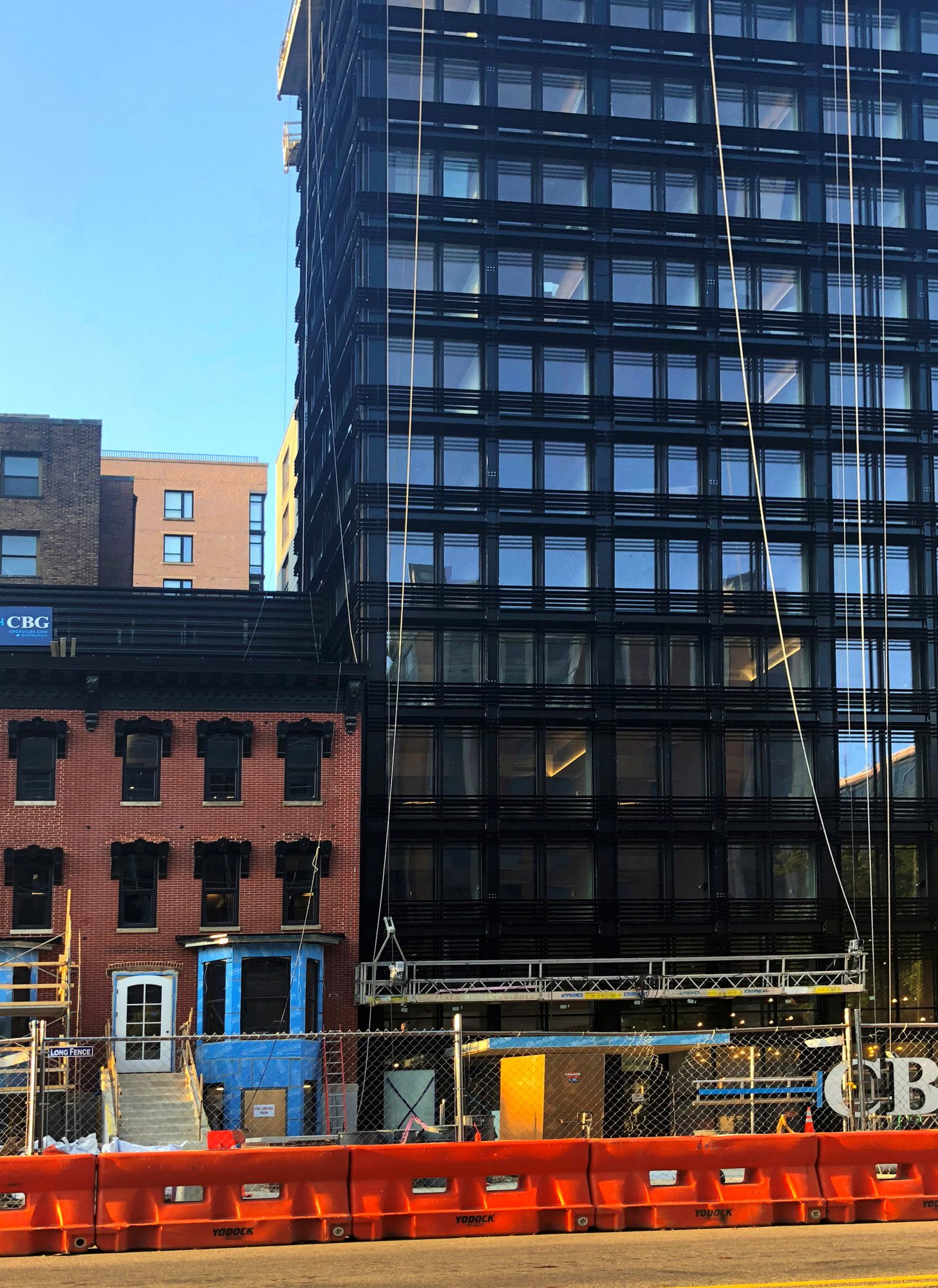Moxy Moxy Hotel nearing completion - featuring INTUS Windows in the main building and in the neighboring restored historic building