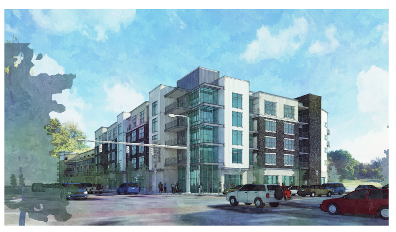 10 North Apartments rendering