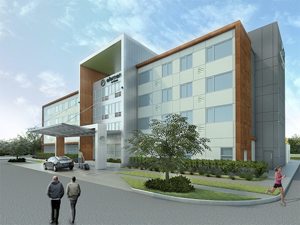 Element Hotel by Westin rendering for the Bentonville, Arkansas location