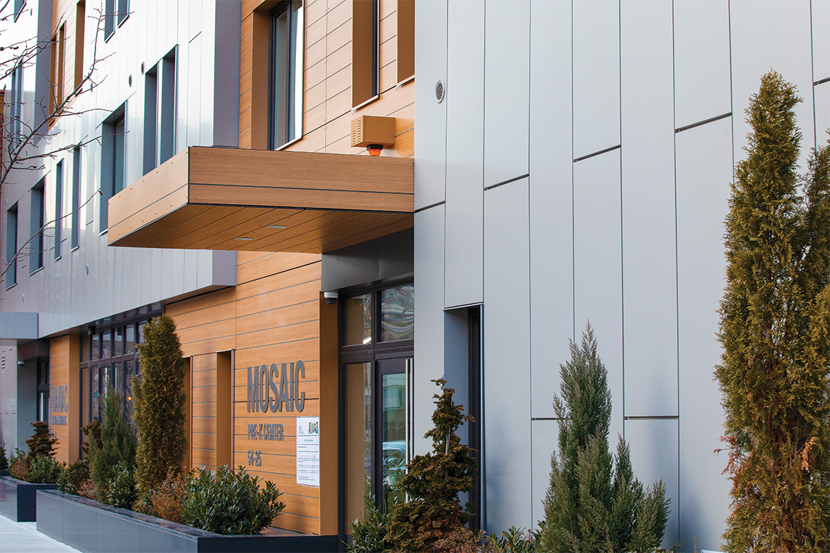 HANAC Corona featuring INTUS Eforte steel reinforced triple pane polymer windows & storefronts