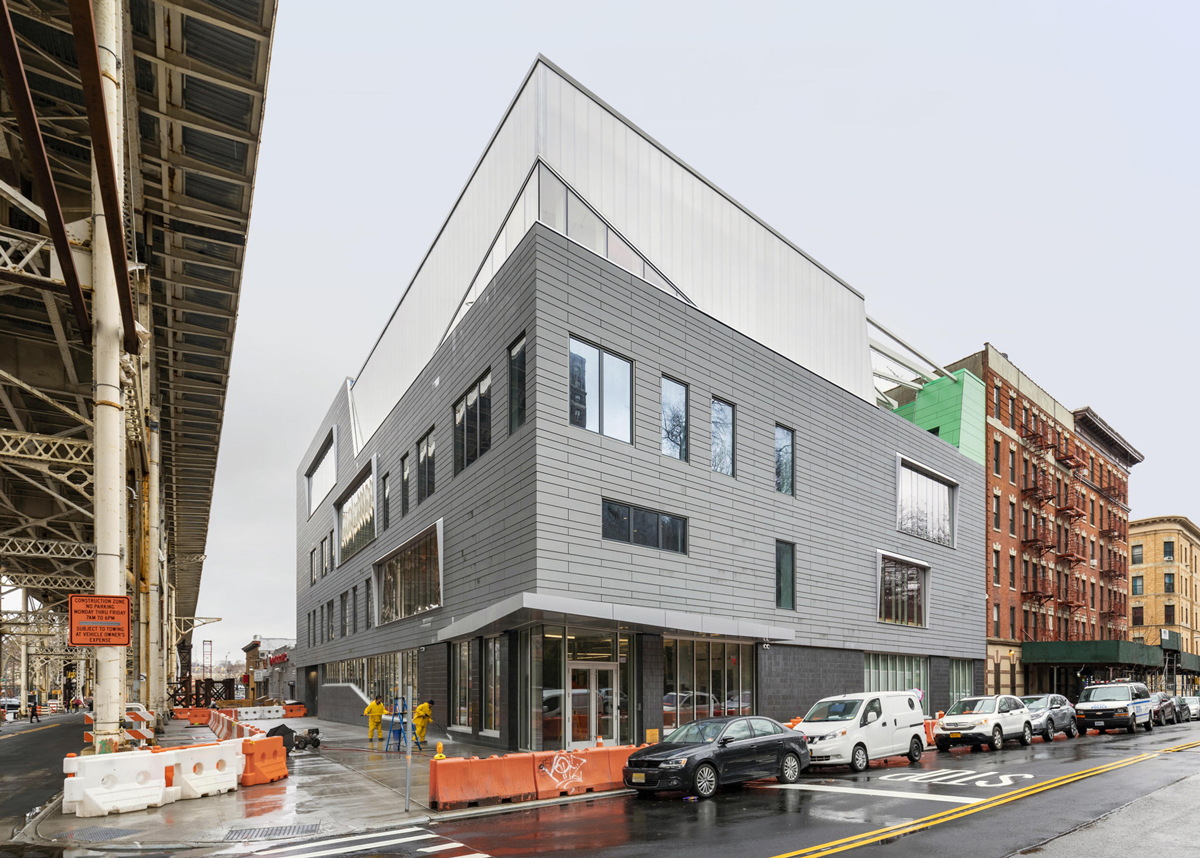 Madison Square Boys and Girls Club Harlem Clubhouse with INTUS steel reinforced polymer window and storefront solutions