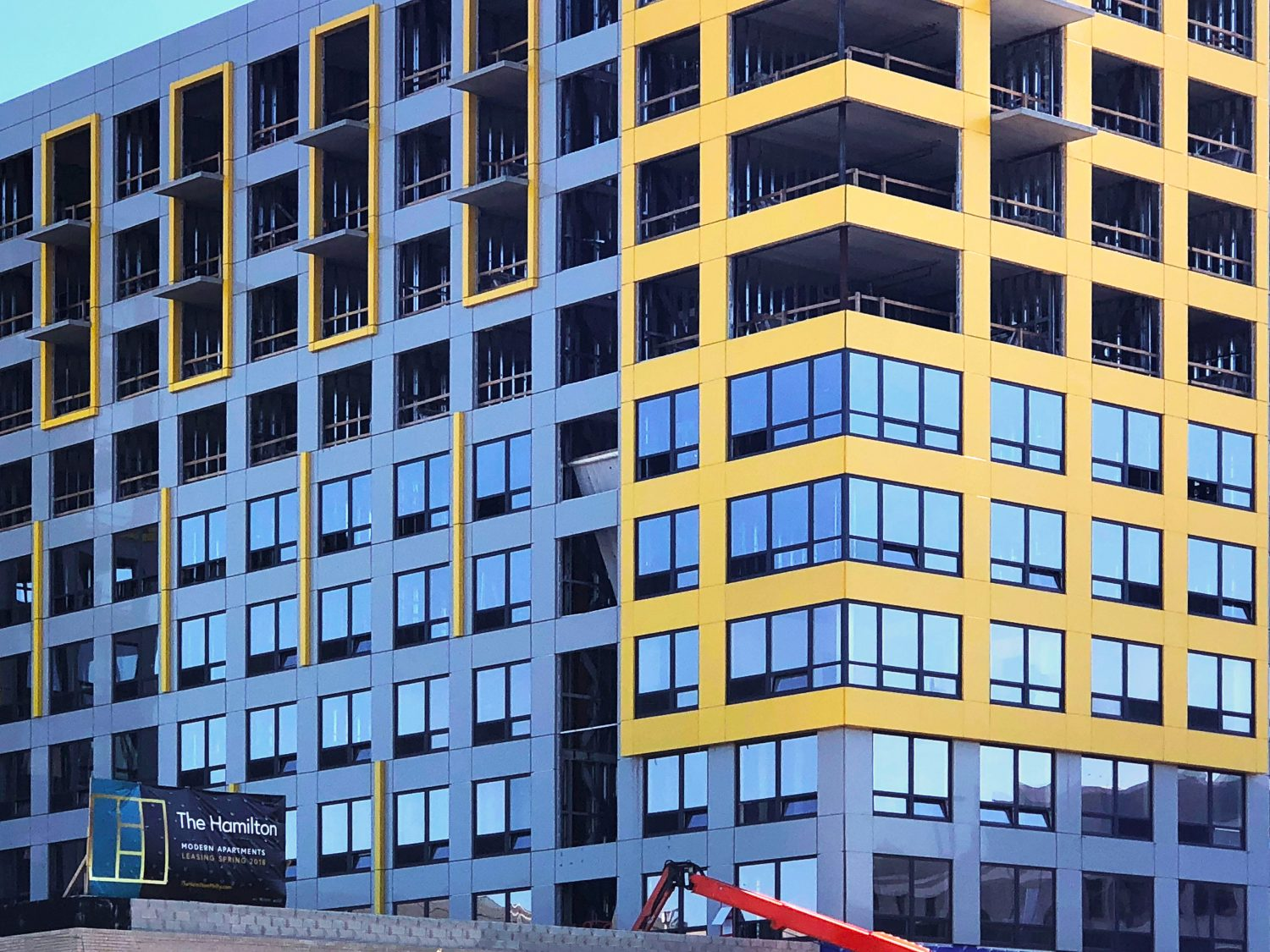 More INTUS Windows are being installed at The Hamilton Apartments