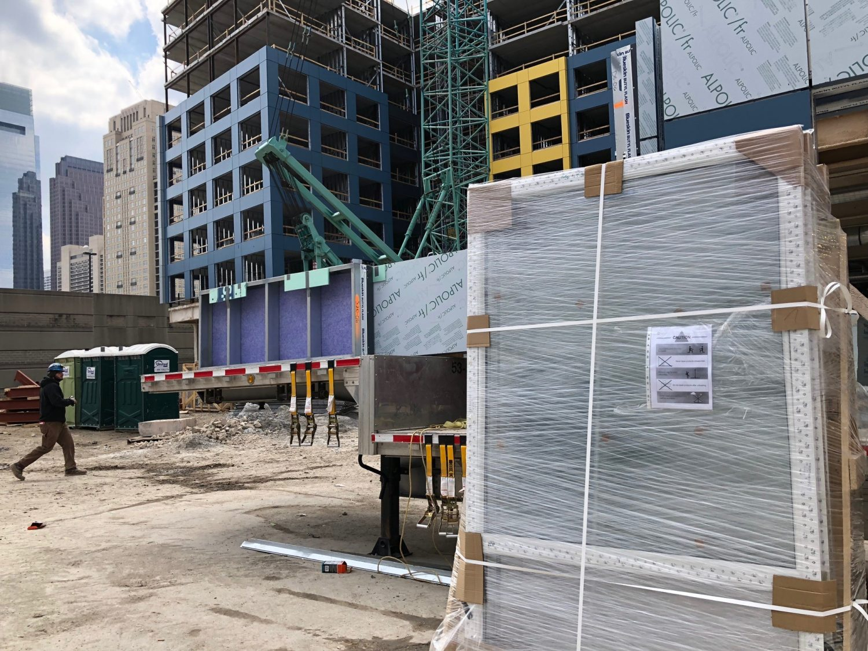 INTUS Windows delivered on site safe & sound