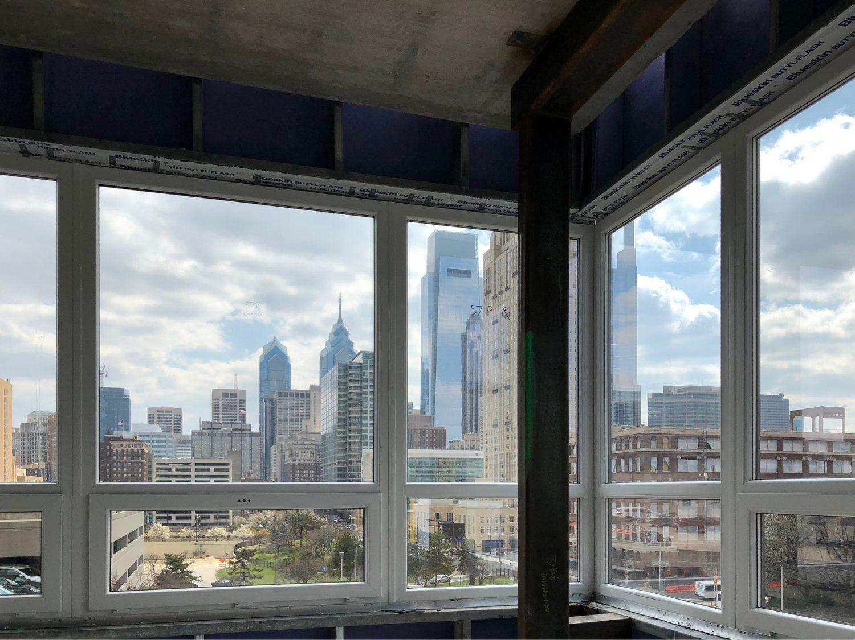 INTUS Windows offers stunning views of Philadelphia's skyline at The Hamilton Apartments