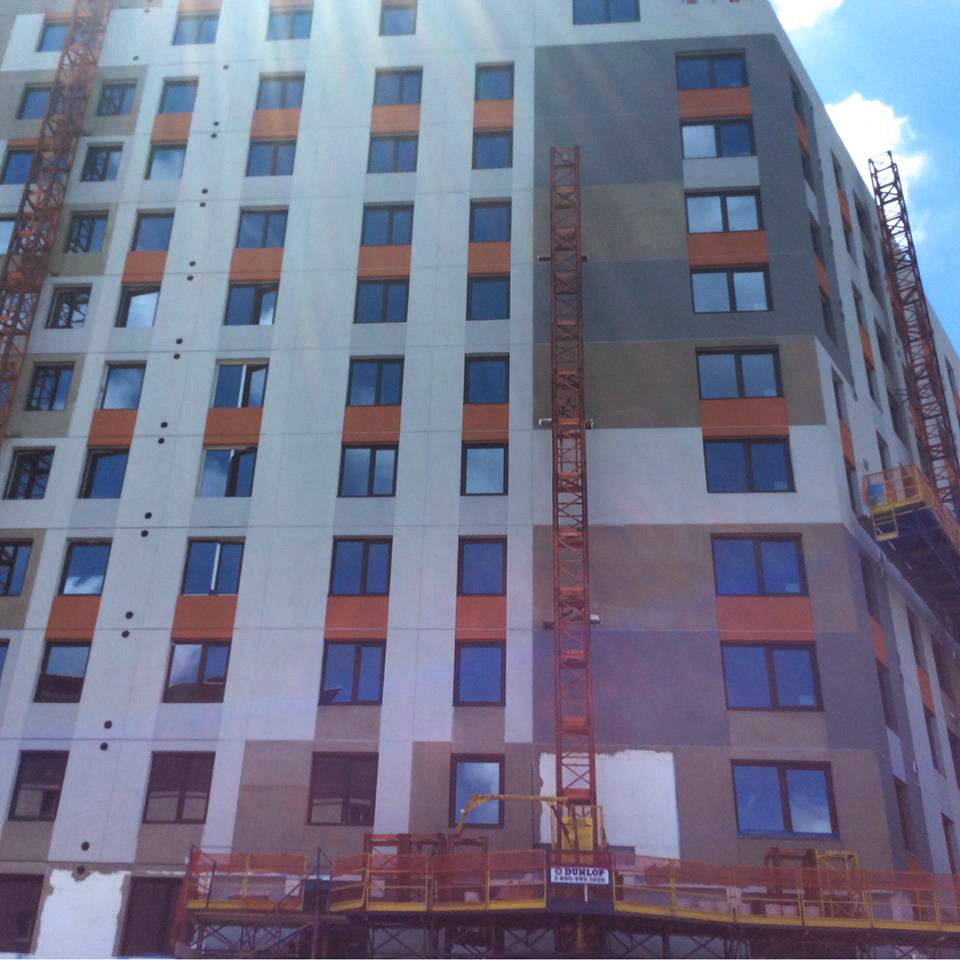 INTUS Windows getting installed in Morris II Apartments in NY