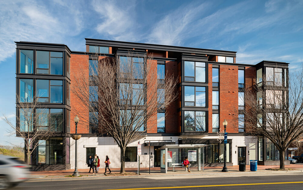 Emblem at Barracks Row with INTUS Windows. Photo credited to Fillat+ Architecture