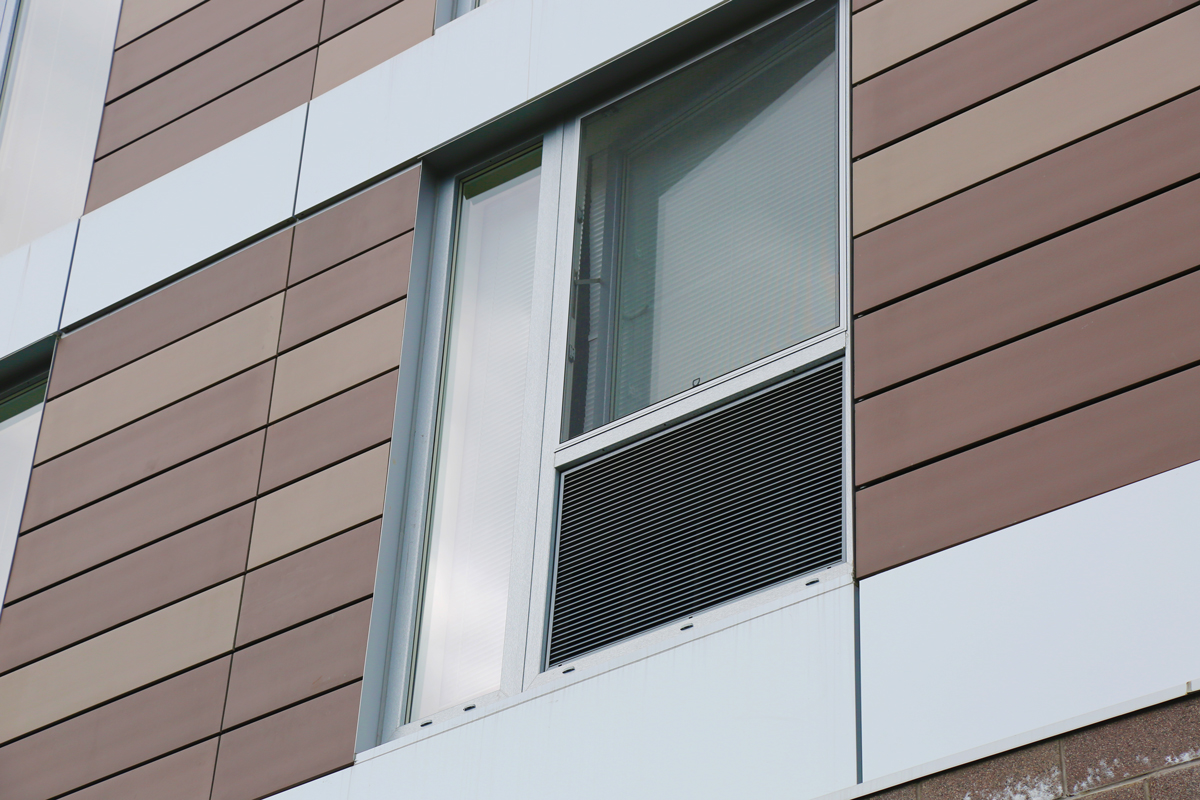 One Dekalb with INTUS windows with louvers