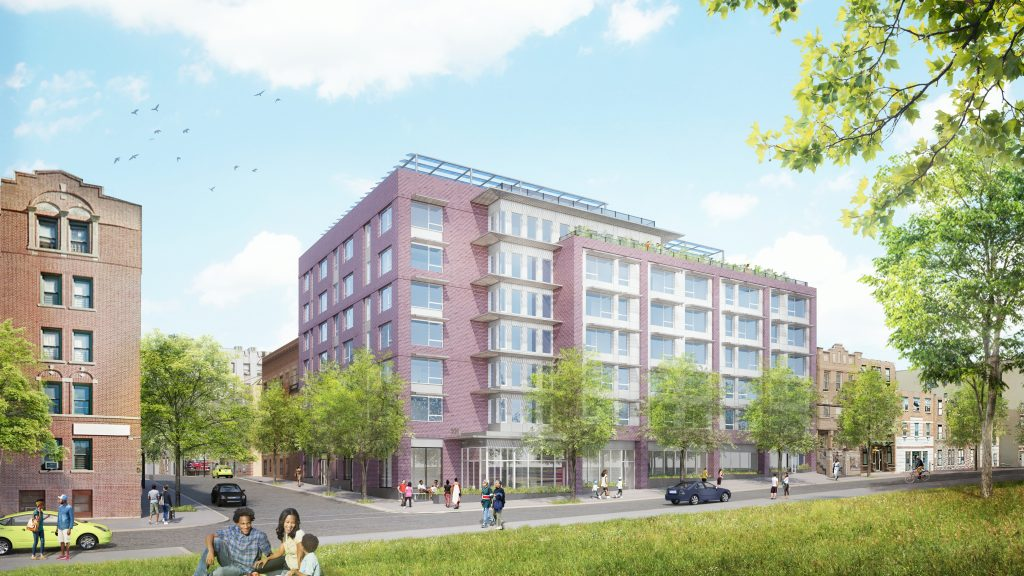 HELP Crotona Senior Housing with INTUS windows (rendering credit: Night Nurse Images, designed by Magnusson Architecture and Planning PC)