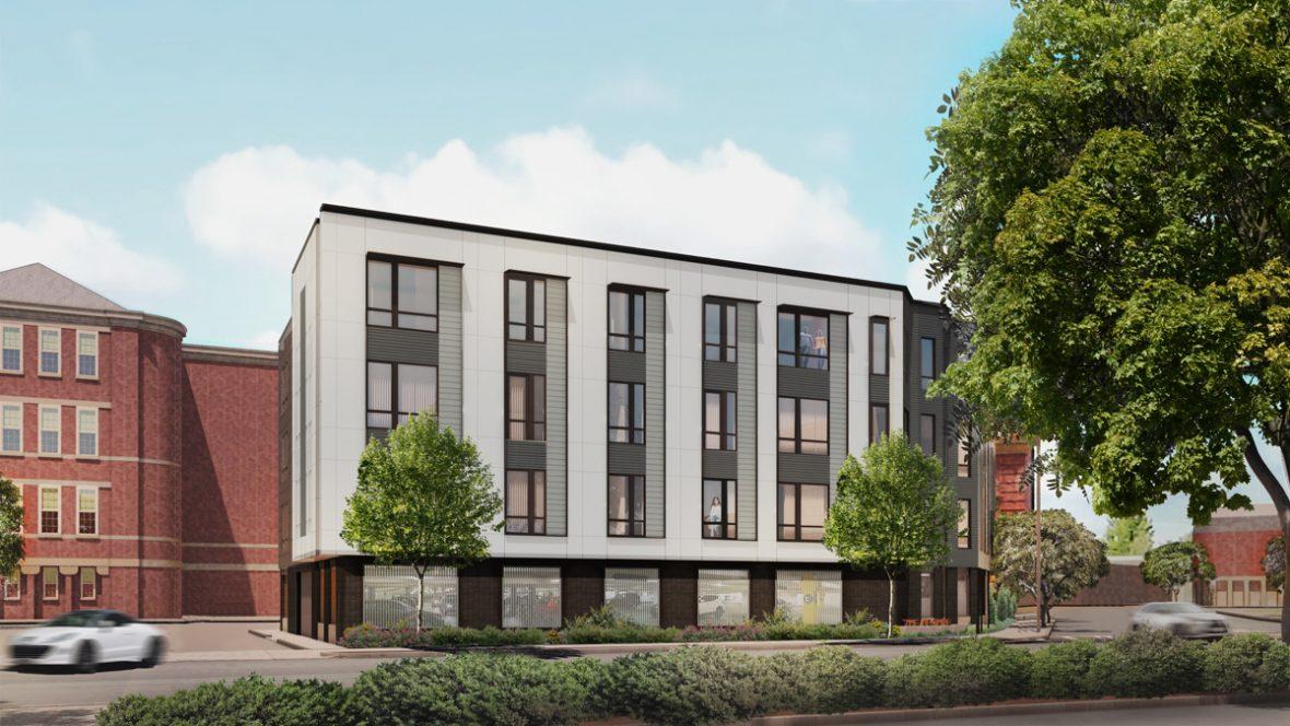 2451 Washington Street with INTUS windows rendering