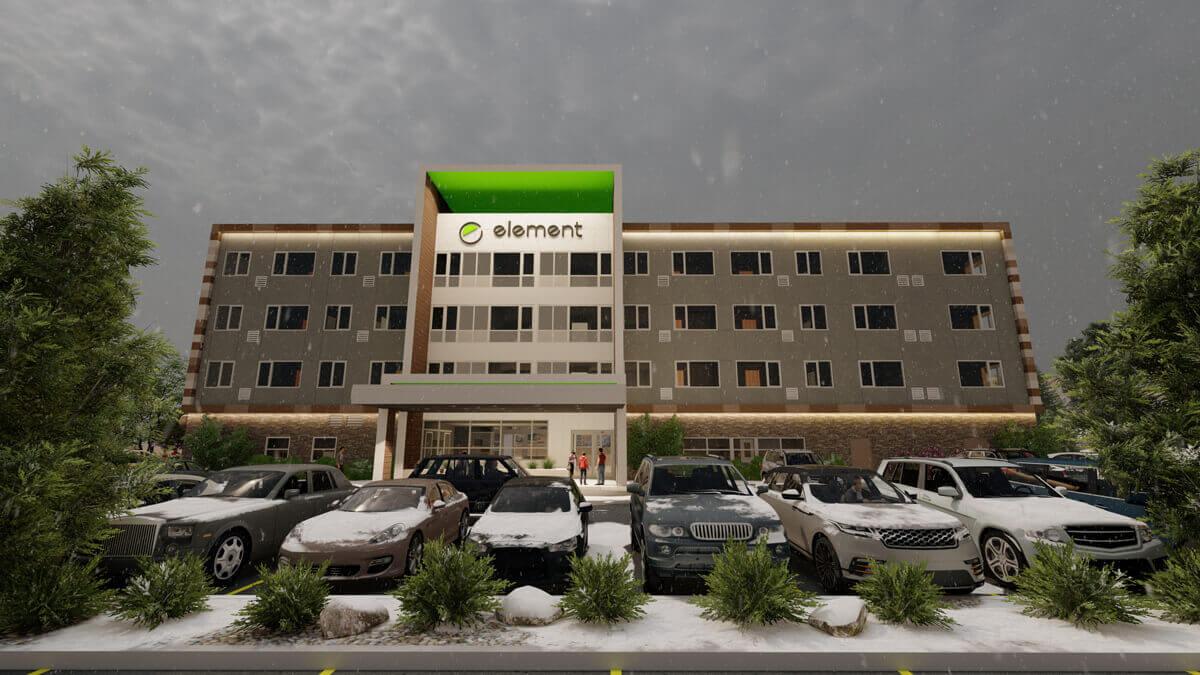 Element Hotel - Bend (Rendering - Chasen B. Garrett Architects, PLLC)