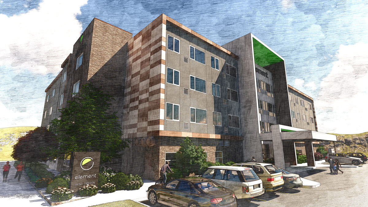 Element Hotel - Bend (Rendering - Chasen B. Garrett Architects, PLLC)