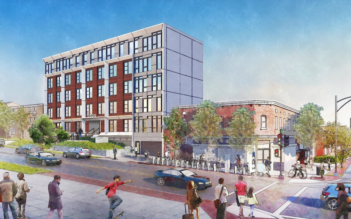 Ward 4 Short-Term Family Housing rendering (credit to credit PGN Architects)