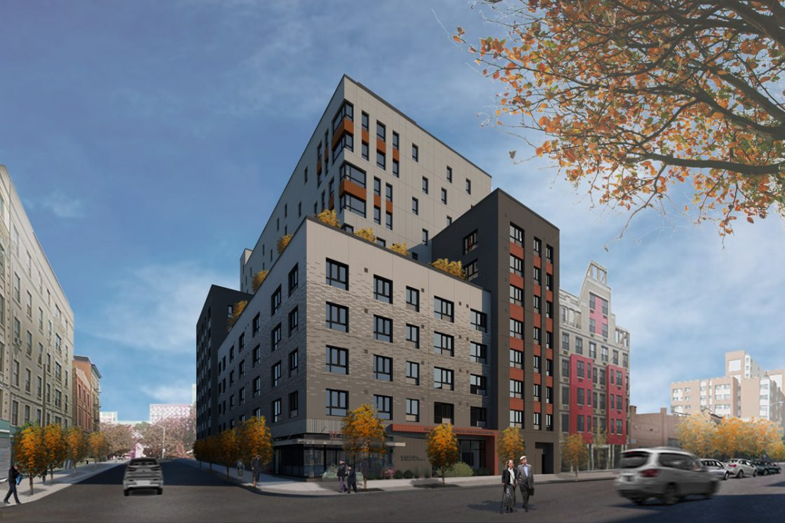 1080 Washington Avenue with INTUS windows (rendering credit to Curtis + Ginsberg Architects LLP)