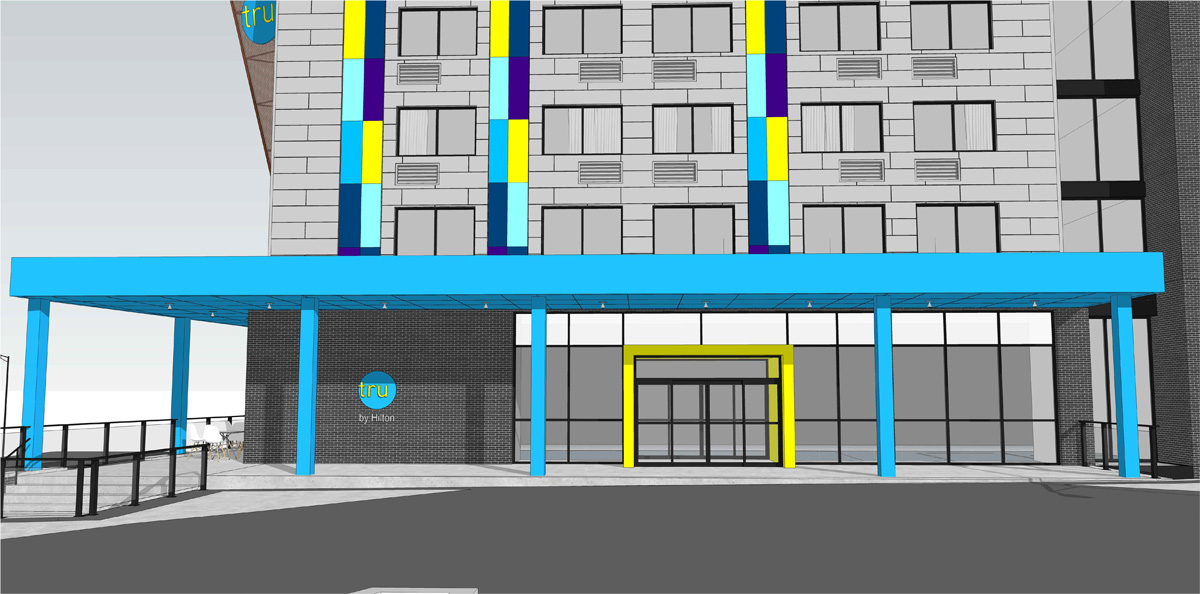Tru by Hilton with INTUS windows (rendering credit to Built Form, LLC)
