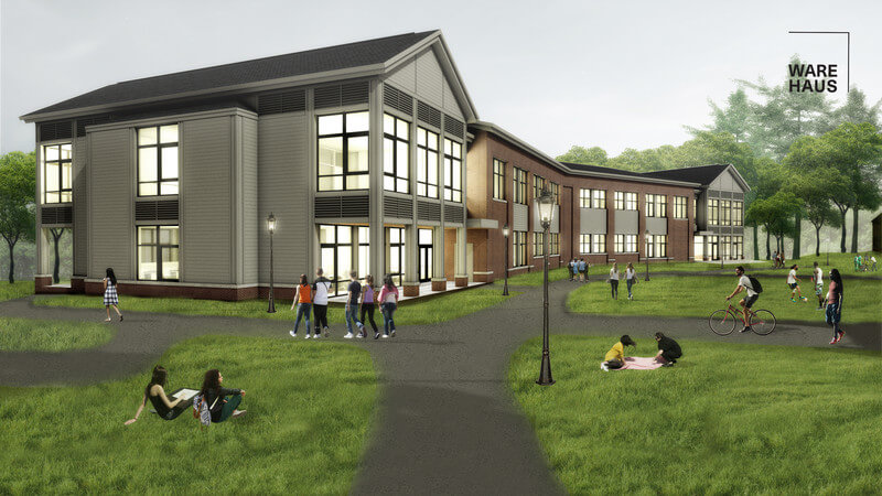 Holderness School Math & Science Building (rendering credit - Warehous York)
