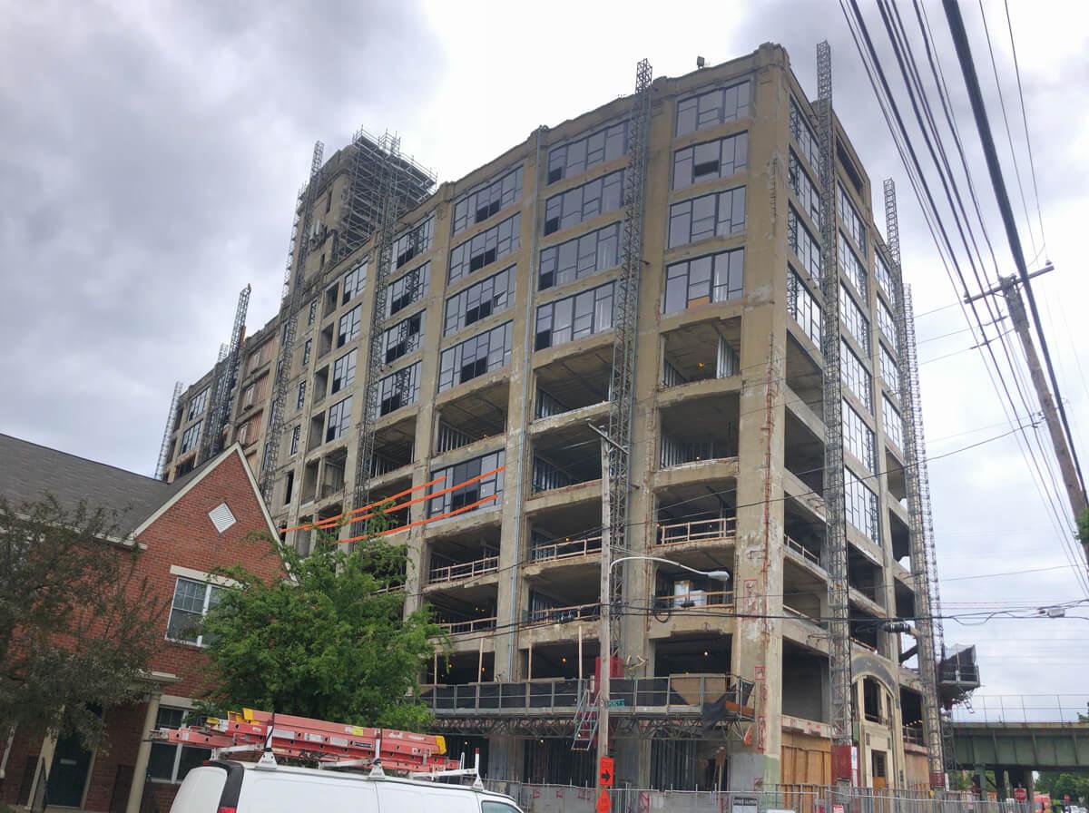 Greene's Plaza Apartments in-progress